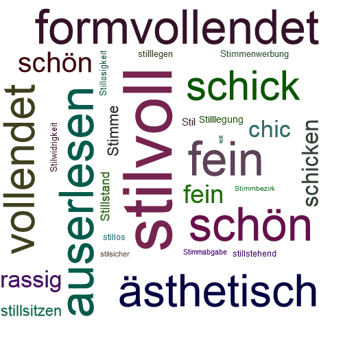 Stilvoll Synonym